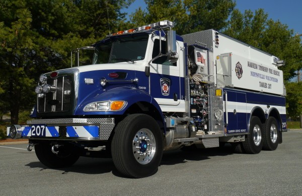 Commercial Dry Side Tandem Axle Tanker