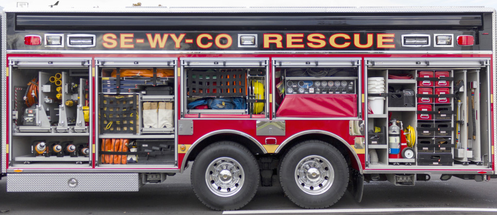 custom fire truck fabrication, tool storage and tool mounting