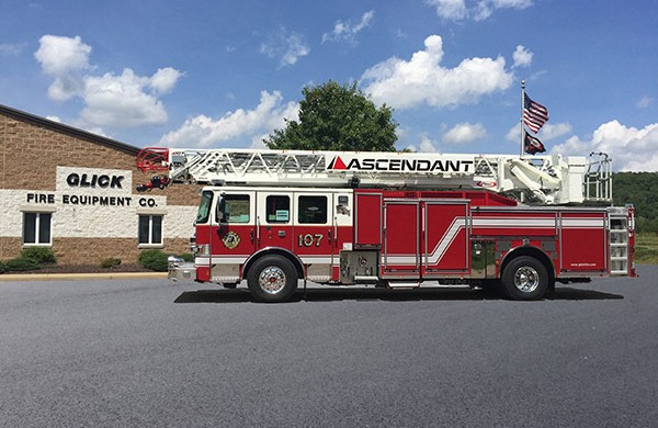 Pierce Enforcer Ascendant - 2016 PUC aerial ladder fire truck for sale - Glick Fire Equipment