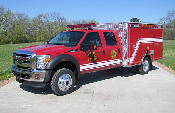 Pierce Ford F-550 fire squad unit - new fire squad sales in Pennsylvania - driver front