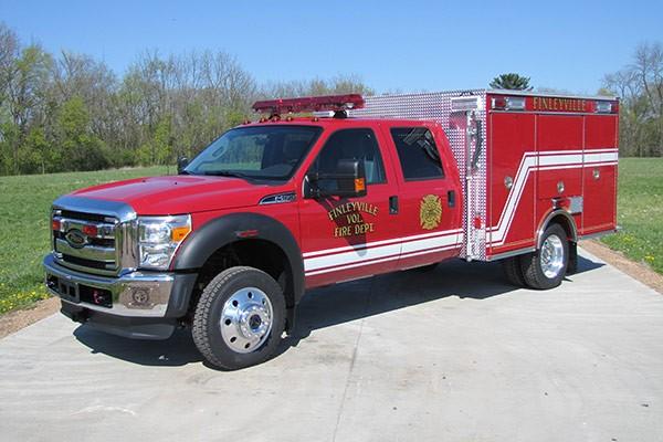 Pierce Ford F-550 fire squad unit - new fire squad sales in Pennsylvania - driver front