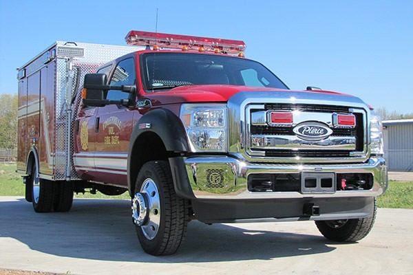 Pierce Ford F-550 fire squad unit - new fire squad sales in Pennsylvania - passenger front