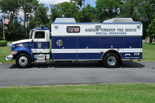 new light salvage rescue vehicle sales - Glick Fire Equipment - driver side