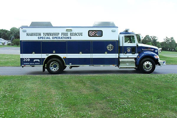 new light salvage rescue vehicle sales - Glick Fire Equipment - passenger side