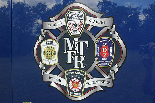 Manheim Township Fire Rescue emblem - new light salvage rescue vehicle