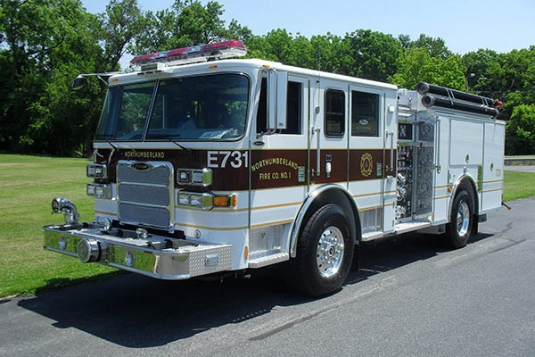 Pierce Arrow XT fire engine - new pumper sales in PA - driver front
