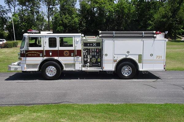 Pierce Arrow XT fire engine - new pumper sales in PA - driver side