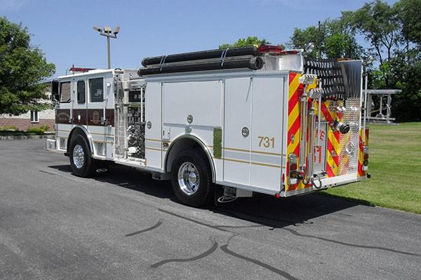 Pierce Arrow XT fire engine - new pumper sales in PA - driver rear