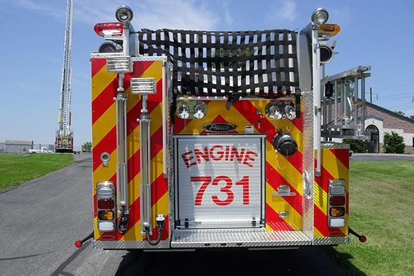 Pierce Arrow XT fire engine - new pumper sales in PA - rear