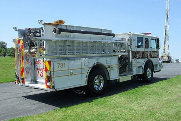 Pierce Arrow XT fire engine - new pumper sales in PA - passenger rear