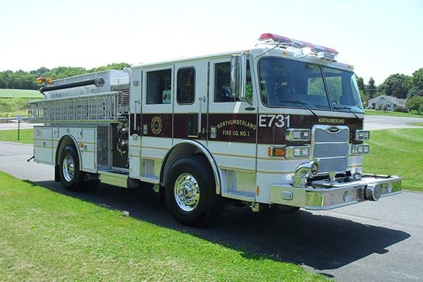 Pierce Arrow XT fire engine - new pumper sales in PA - passenger front