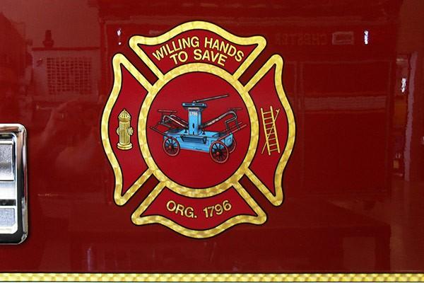 Pierce Arrow XT fire engine - new pumper sales in PA - Northumberland FD emblem