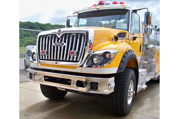 new Pierce commercial fire tanker - new fire apparatus sales in PA - driver front