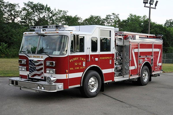 2012 Pierce saber fire engine pumper - new apparatus sales in PA - driver front