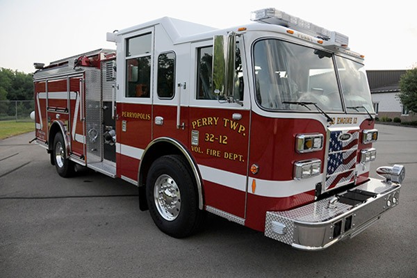 2012 Pierce saber fire engine pumper - new apparatus sales in PA - passenger front