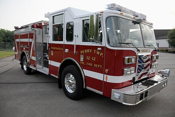 2012 Pierce saber fire engine pumper - new apparatus sales in PA - passenger front