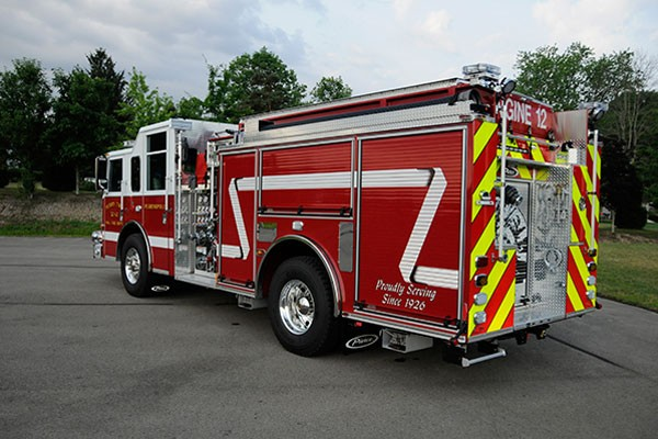 2012 Pierce saber fire engine pumper - new apparatus sales in PA - driver rear