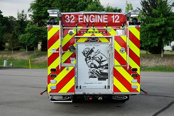2012 Pierce saber fire engine pumper - new apparatus sales in PA - rear