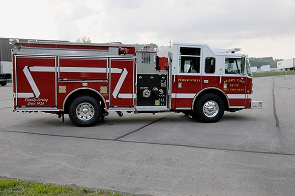 2012 Pierce saber fire engine pumper - new apparatus sales in PA - passenger side