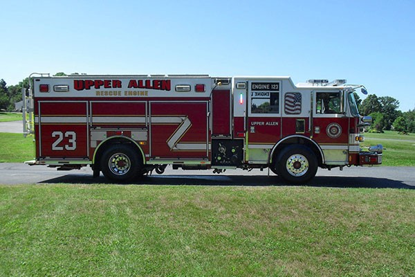 Pierce Arrow XT fire engine - new pumper sales in PA - passenger side