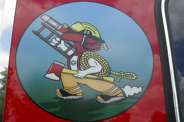 Pierce Arrow XT fire engine - new pumper sales in PA - Longwood Fire Company custom graphics