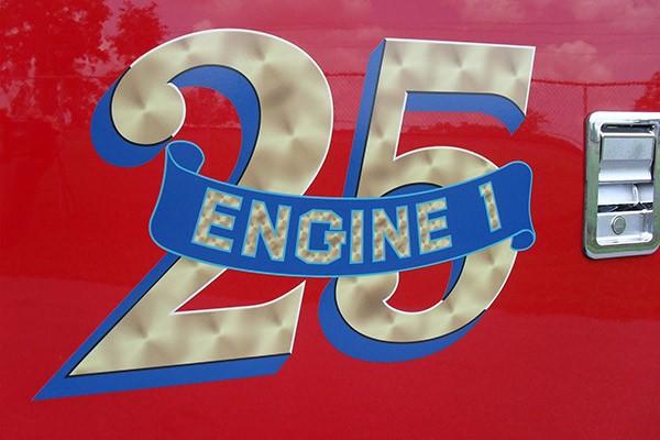 Pierce Arrow XT fire engine - new pumper sales in PA - Longwood Fire Company custom lettering
