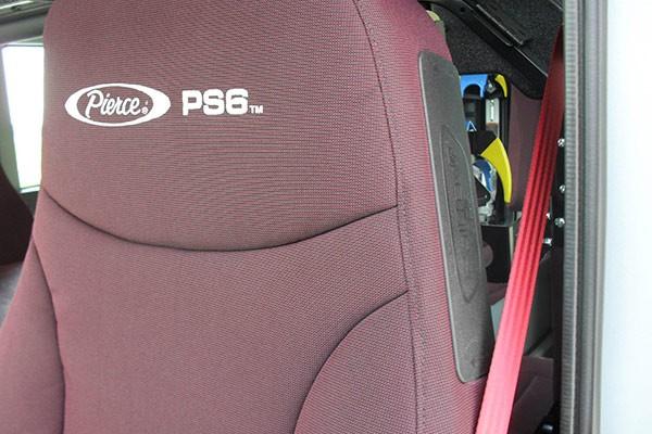 Pierce Impel pumper - new fire engine sales in Pennsylvania - seat detail