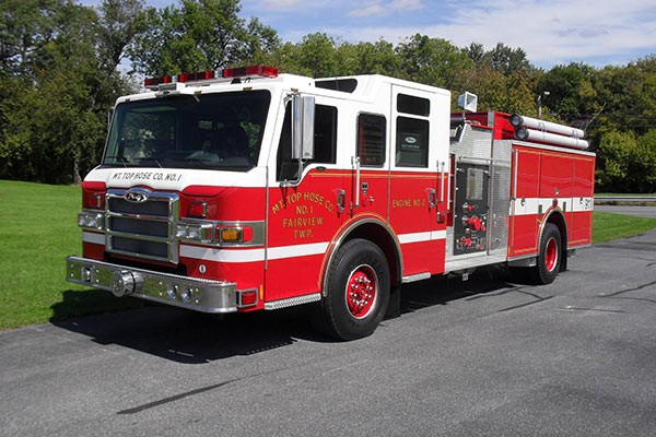 Pierce Impel pumper - new fire engine sales in Pennsylvania - driver front