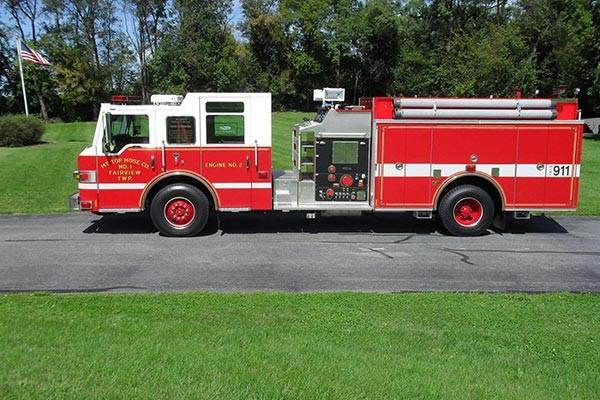 Pierce Impel pumper - new fire engine sales in Pennsylvania - driver side