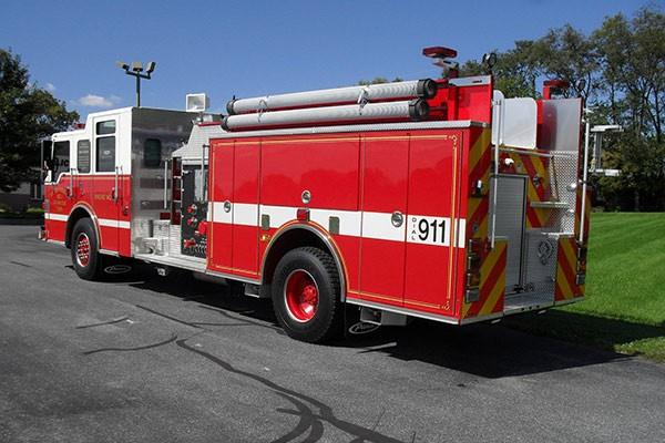 Pierce Impel pumper - new fire engine sales in Pennsylvania - driver rear