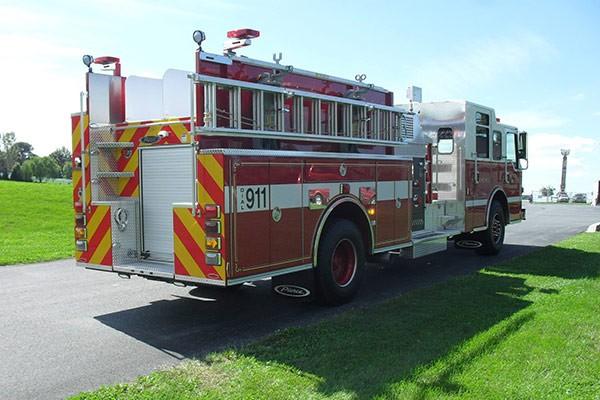 Pierce Impel pumper - new fire engine sales in Pennsylvania - passenger rear