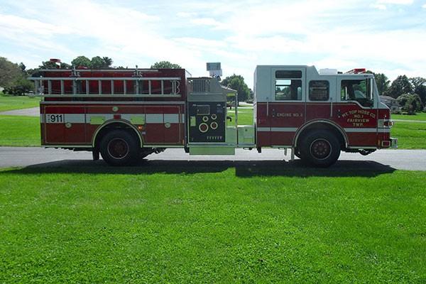 Pierce Impel pumper - new fire engine sales in Pennsylvania - passenger side