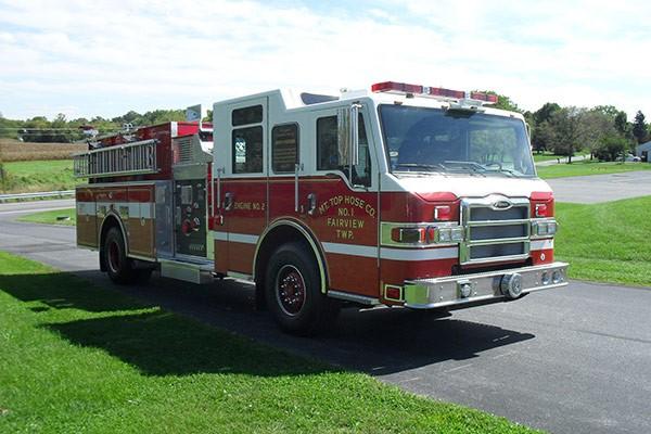 Pierce Impel pumper - new fire engine sales in Pennsylvania - passenger front