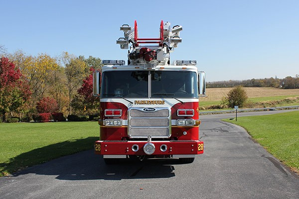 Pierce Arrow XT heavy duty aerial ladder fire truck - new aerial ladder fire truck sales in PA - front