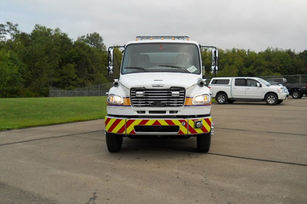 Pierce Freightliner fire engine - new commercial pumper sales in PA - front