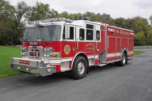 Pierce Arrow XT rescue pumper - Glick FIre new rescue fire engine sales in PA - driver front