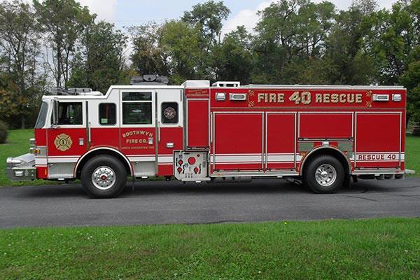 Pierce Arrow XT rescue pumper - Glick FIre new rescue fire engine sales in PA - driver side