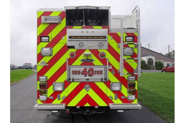 Pierce Arrow XT rescue pumper - Glick FIre new rescue fire engine sales in PA - rear