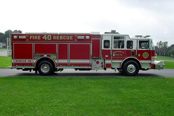 Pierce Arrow XT rescue pumper - Glick FIre new rescue fire engine sales in PA - passenger side