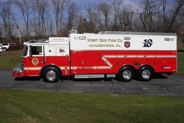Pierce Arrow XT walk-in rescue - new fire rescue sales in Pennsylvania - driver side