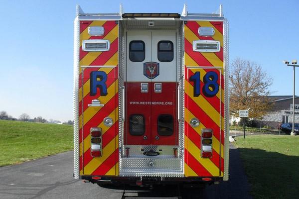 Pierce Arrow XT walk-in rescue - new fire rescue sales in Pennsylvania - rear
