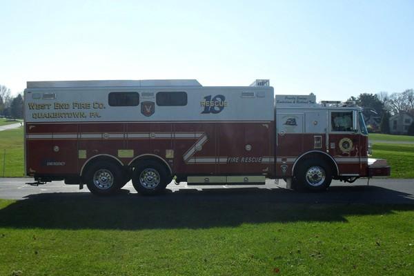 Pierce Arrow XT walk-in rescue - new fire rescue sales in Pennsylvania - passenger side