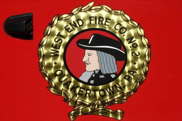 Pierce Arrow XT walk-in rescue - new fire rescue sales in Pennsylvania - West End Quaker logo
