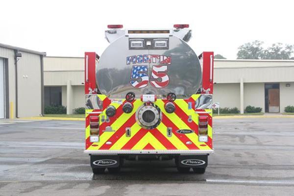 Pierce Kenworth fire tanker - new commercial fire tanker sales in PA - rear