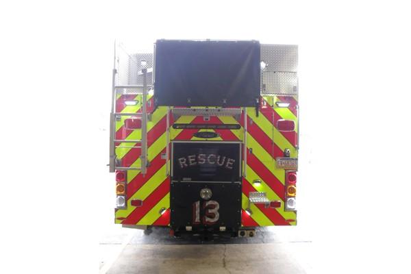 Pierce Dash fire engine pumper - new fire apparatus sales in Pennsylvania - rear