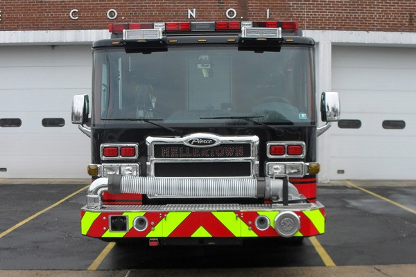 Pierce Dash fire engine pumper - new fire apparatus sales in Pennsylvania - front