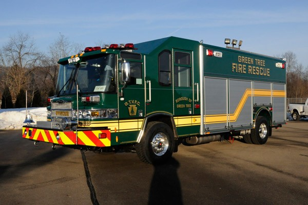 Pierce Quantum rescue fire apparatus - new fire rescue truck sales in PA - driver front