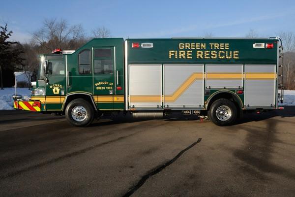 Pierce Quantum rescue fire apparatus - new fire rescue truck sales in PA - driver side