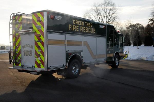 Pierce Quantum rescue fire apparatus - new fire rescue truck sales in PA - passenger rear