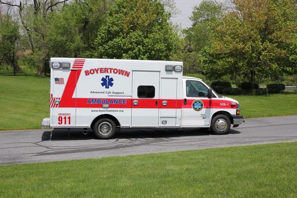 new ambulance sales in PA - 2014 Braun Chief XL Type III - passenger side